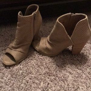 Report peep-toe booties